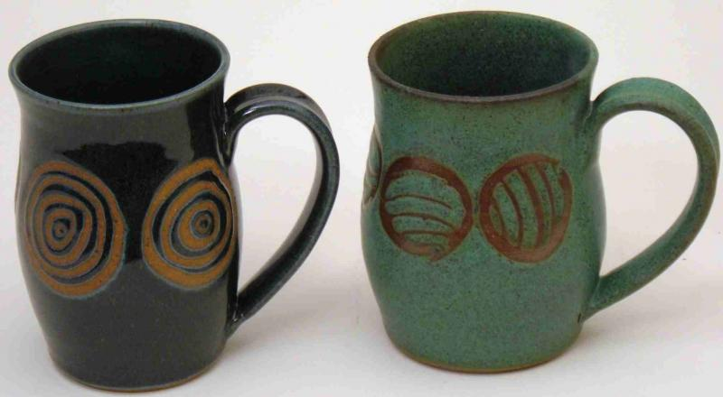 Doug's Mugs with wax designs by Nevan